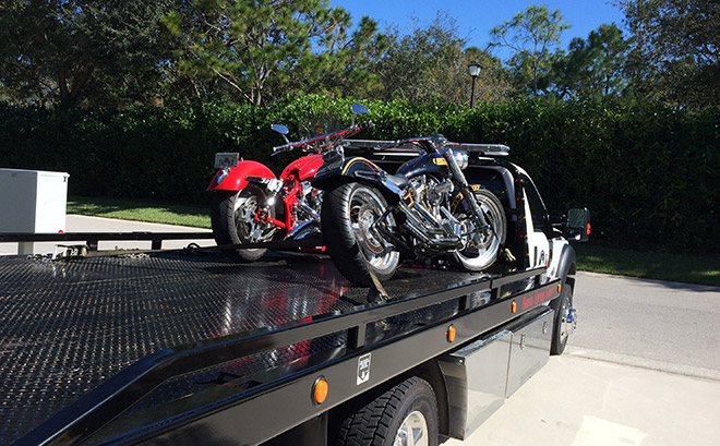 Motorcycle Towing in and near Bonita Springs, Estero Florida