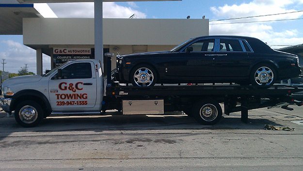 Rental Vehicle Towing in and near Bonita Springs, Estero Florida