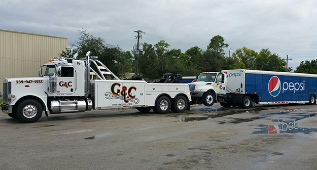 Semi Towing in and near Bonita Springs, Estero Florida