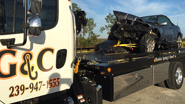 Towing from Accidents in and near Bonita Springs, Estero Florida