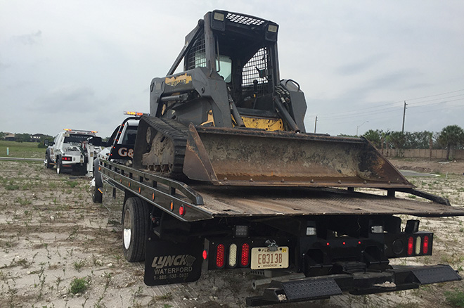 Construction Equipment Towing in and near Bonita Springs Florida