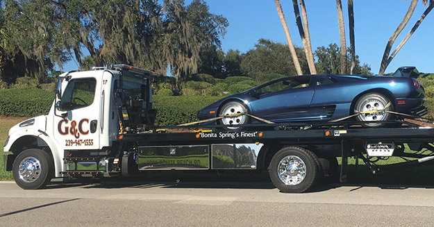 Exotic Car Towing in and near Bonita Springs Florida