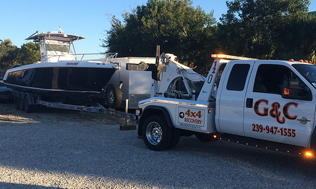 Boat Towing in and near Estero Florida