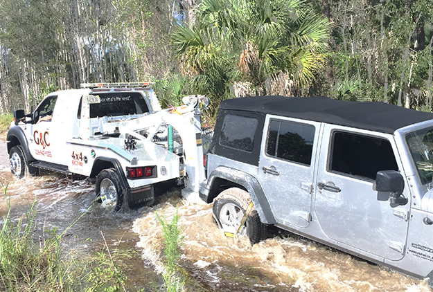 Off Road Vehicle Towing in and near Naples Florida