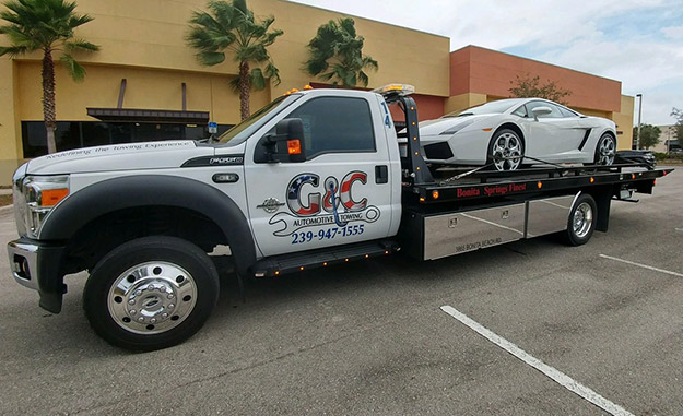 Sports Car Towing in and near Naples Florida
